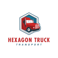 六邊形的卡車Logo