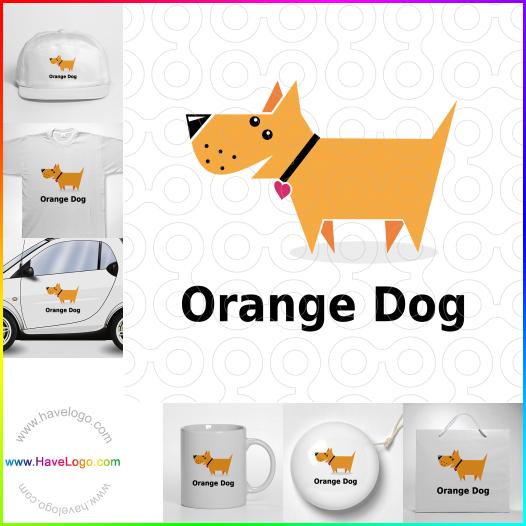 橙色的狗logo設計 - ID:65667