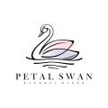 花瓣的天鵝Logo
