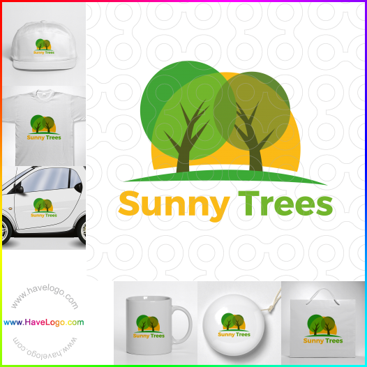 Sunny Trees  logo - ID:65487