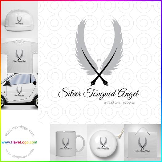 feather pen logo - ID:24277