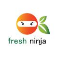 新鮮的忍者Logo