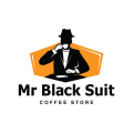 mr black suit  logo