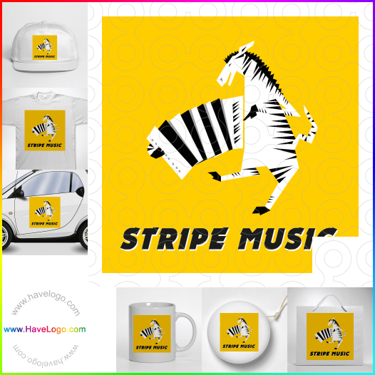 striped logo - ID:15024