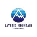 分層的山Logo