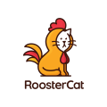 Rooster Cat  logo