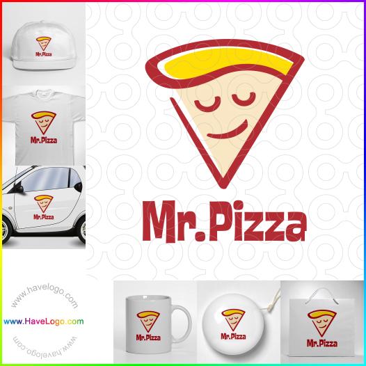 外賣比薩餅店logo設計 - ID:52844