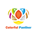 Colorful Panther  logo