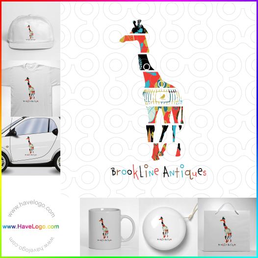 長頸鹿logo設計 - ID:52851