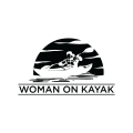 woman on kayak  logo