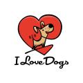 我喜歡狗Logo
