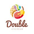 Double Ice Cream  logo