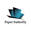Paper butterfly  logo