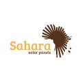 撒哈拉沙漠的太陽能電池板Logo