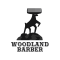 Woodland Barber  logo