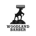 Woodland Barber  logo