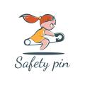 Safety pin  logo