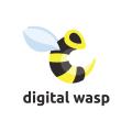 Digital wasp  logo