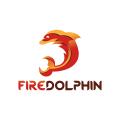 火的海豚Logo