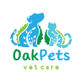 橡樹的寵物Logo