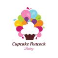 Cupcake Peacock  logo