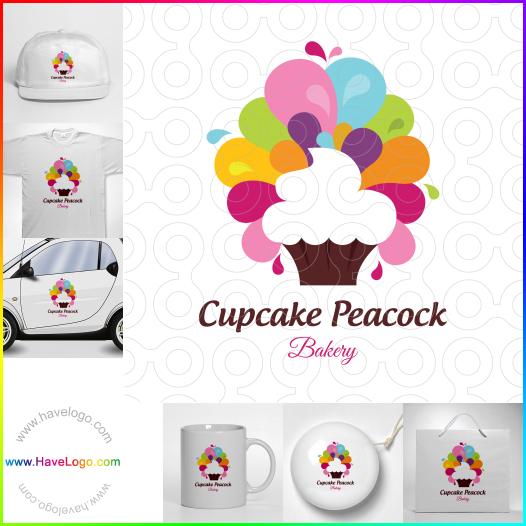 Cupcake Peacock  logo - ID:65475