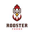 公雞的食物Logo