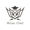 聰明的貓頭鷹Logo