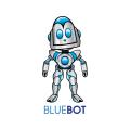 藍色機器人Logo