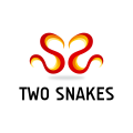 Two Snakes Heart  logo