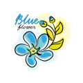 藍色的花Logo