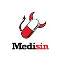 紅色的背景Logo