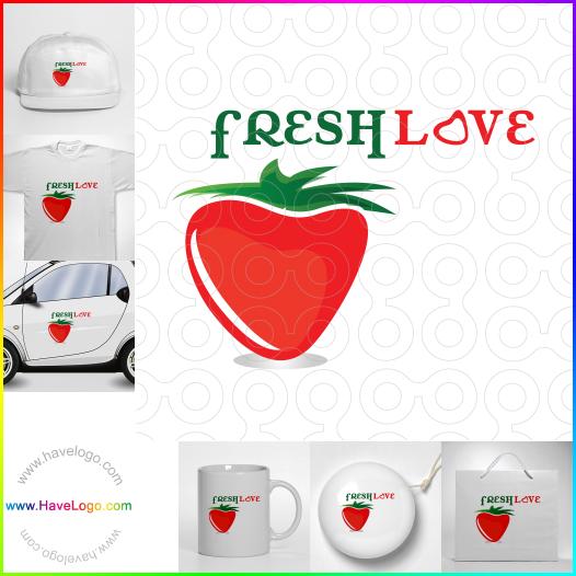 strawberry logo - ID:17787