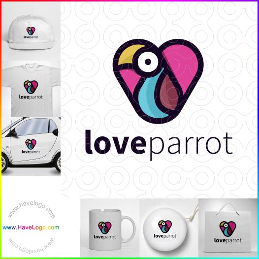 愛的鸚鵡logo設計 - ID:65566