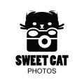 可愛的貓Logo