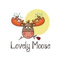 可愛的駝鹿Logo