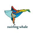 旋轉的鯨魚Logo