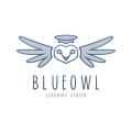 藍色貓頭鷹Logo