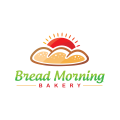 早上的麵包店麵包Logo