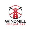 風車的筷子Logo