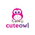 可愛貓頭鷹Logo