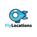 飛的位置Logo