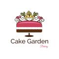 蛋糕花園麵包店Logo