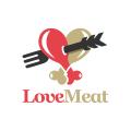 Love Meat  logo