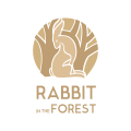 Rabbit In The Forest  logo