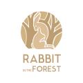 兔子在森林Logo