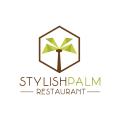 stylish palm restaurant  logo
