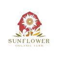 向日葵的有機農場Logo