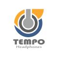 節奏的耳機Logo