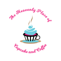 The Heavenly Place of Cupcake and Coffee  logo